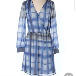 Neiman Marcus cusp dress sz m blue grey